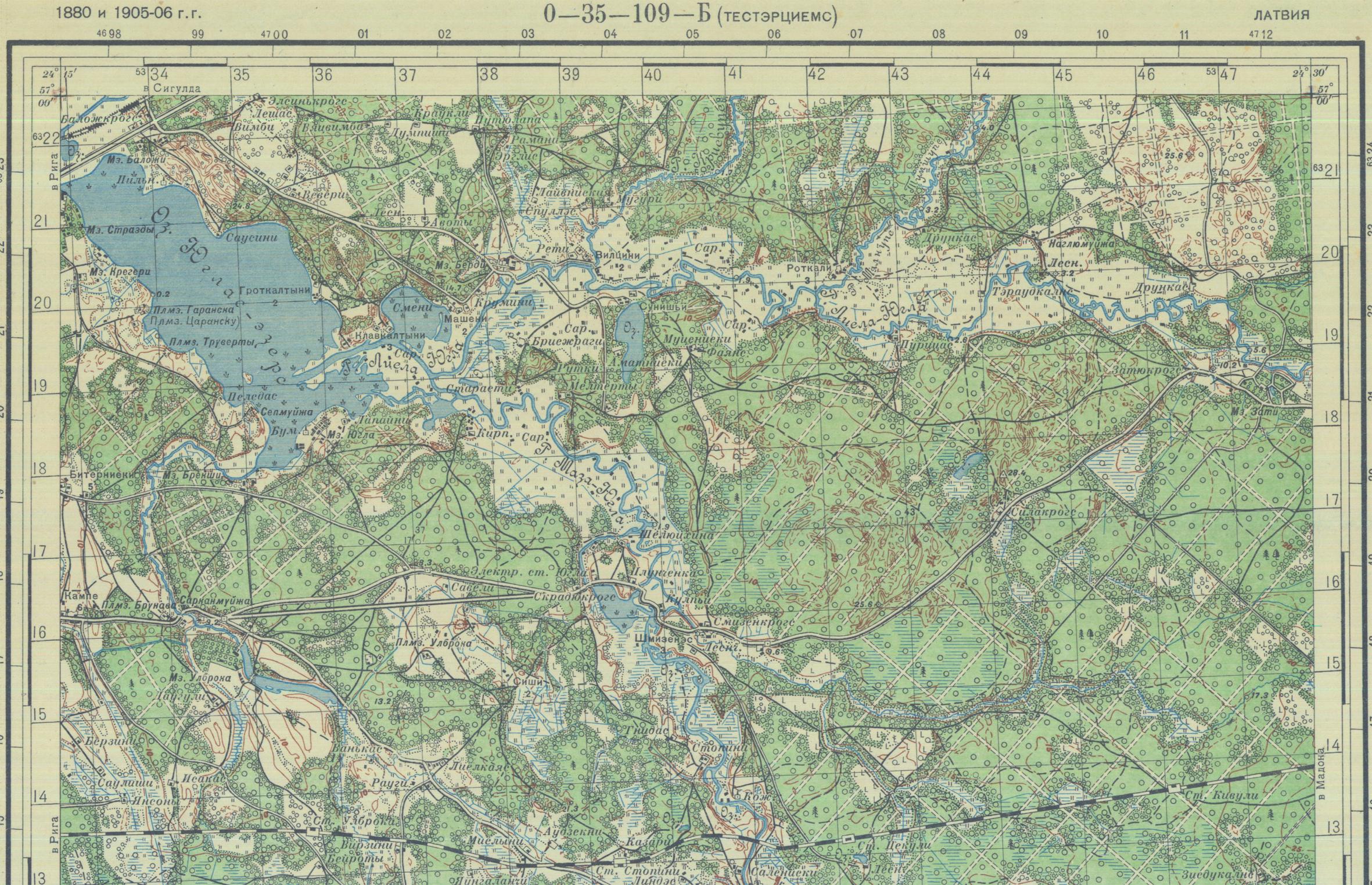 Silakrogs un apkārtne topogrāfiskā karte